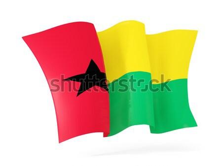 フラグ ギニア 3次元の図 孤立した 白 ストックフォト © MikhailMishchenko