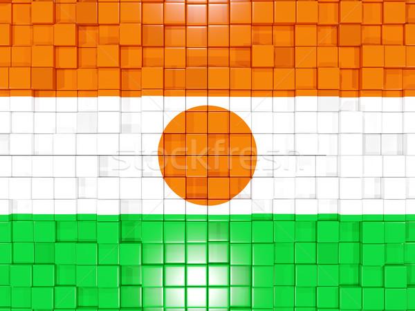 Piazza bandiera Niger illustrazione 3d mosaico Foto d'archivio © MikhailMishchenko