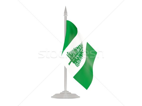 Banderą norfolk wyspa maszt 3d odizolowany Zdjęcia stock © MikhailMishchenko
