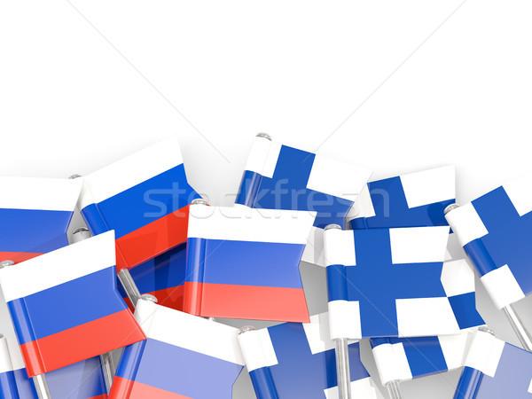 Bandeira isolado branco ilustração 3d linguagem política Foto stock © MikhailMishchenko