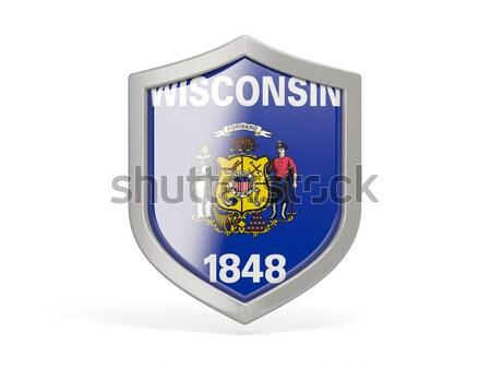 Stock fotó: Zászló · tér · ikon · izolált · fehér · 3d · illusztráció