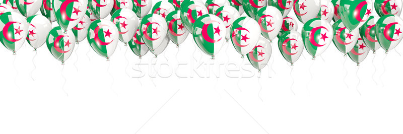 шаров кадр флаг Алжир изолированный белый Сток-фото © MikhailMishchenko