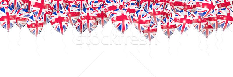 шаров кадр флаг Великобритания изолированный белый Сток-фото © MikhailMishchenko