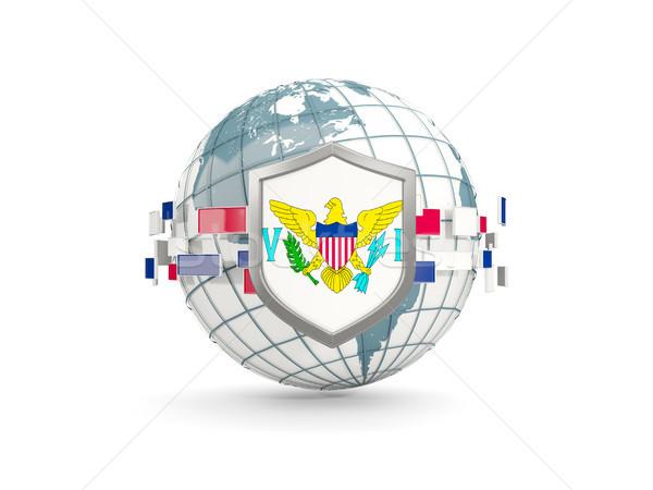 мира щит флаг Виргинские о-ва изолированный белый Сток-фото © MikhailMishchenko