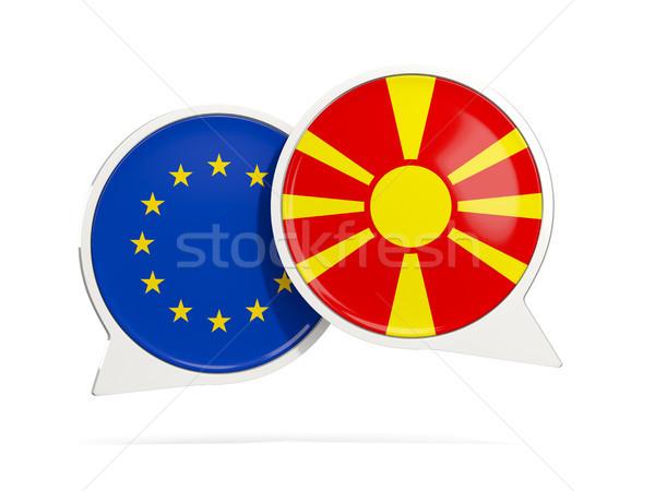 Chat pęcherzyki eu Macedonia odizolowany biały Zdjęcia stock © MikhailMishchenko