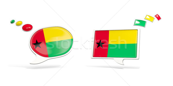Twee chat iconen vlag Guinea vierkante Stockfoto © MikhailMishchenko