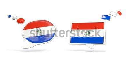 Dos chat iconos bandera Tailandia cuadrados Foto stock © MikhailMishchenko