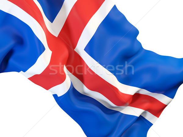 Waving flag of iceland Stock photo © MikhailMishchenko