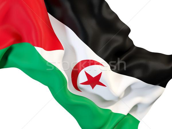 Vlag westerse sahara 3d illustration Stockfoto © MikhailMishchenko