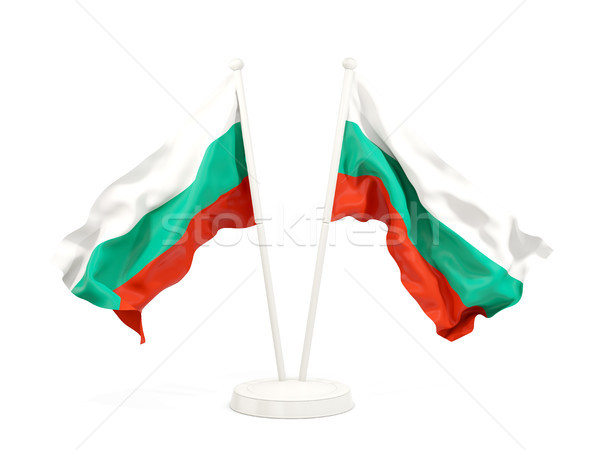 Two waving flags of bulgaria Stock photo © MikhailMishchenko