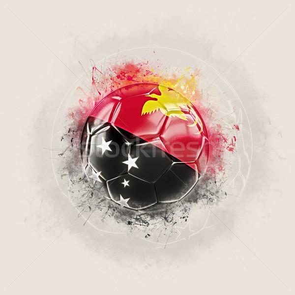 Grunge futball zászló Pápua Új-Guinea 3d illusztráció világ Stock fotó © MikhailMishchenko