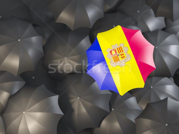 Umbrella with flag of andorra Stock photo © MikhailMishchenko