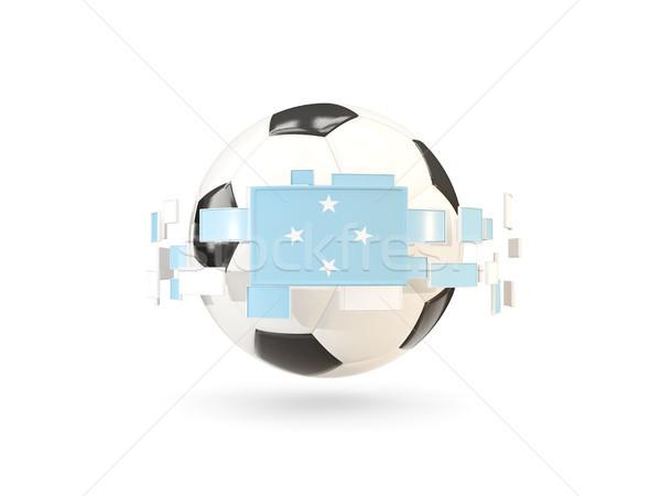 サッカーボール 行 フラグ フラグ ミクロネシア ストックフォト © MikhailMishchenko