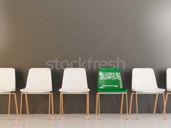 Sandalye bayrak Suudi Arabistan beyaz sandalye Stok fotoğraf © MikhailMishchenko