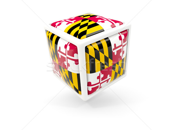 maryland state flag in cube icon. United states local flags Stock photo © MikhailMishchenko