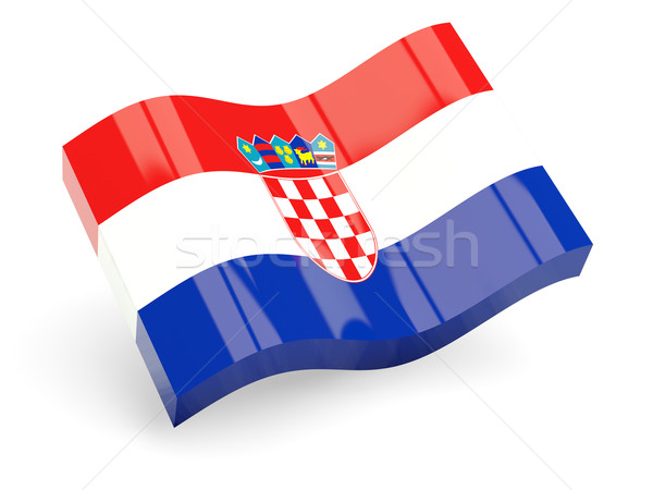 3d flag of croatia Stock photo © MikhailMishchenko
