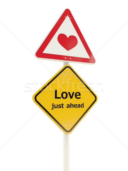 Love road sign Stock photo © MikhailMishchenko