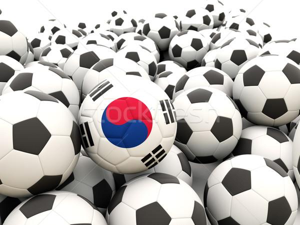 Football with flag of south korea Stock photo © MikhailMishchenko