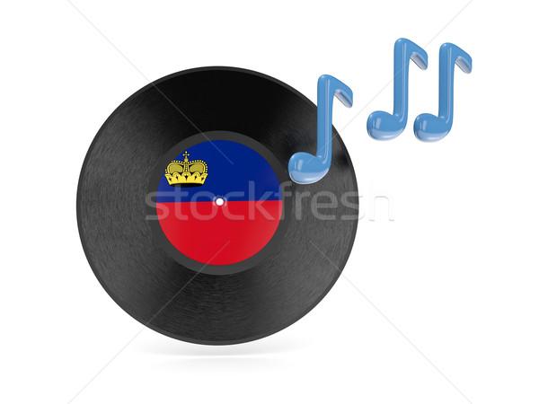 Vinyl disk with flag of liechtenstein Stock photo © MikhailMishchenko