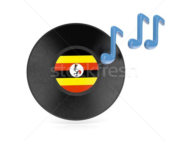 Vinyl disk with flag of uganda Stock photo © MikhailMishchenko