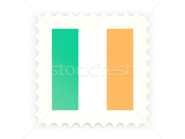 Postabélyeg ikon Írország izolált fehér felirat Stock fotó © MikhailMishchenko