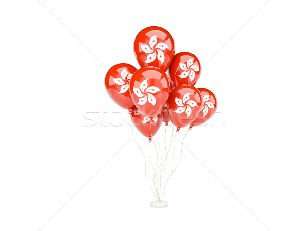Flying balloons with flag of hong kong Stock photo © MikhailMishchenko