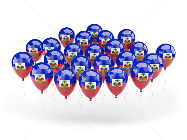 Ballonnen vlag Haïti geïsoleerd witte reizen Stockfoto © MikhailMishchenko