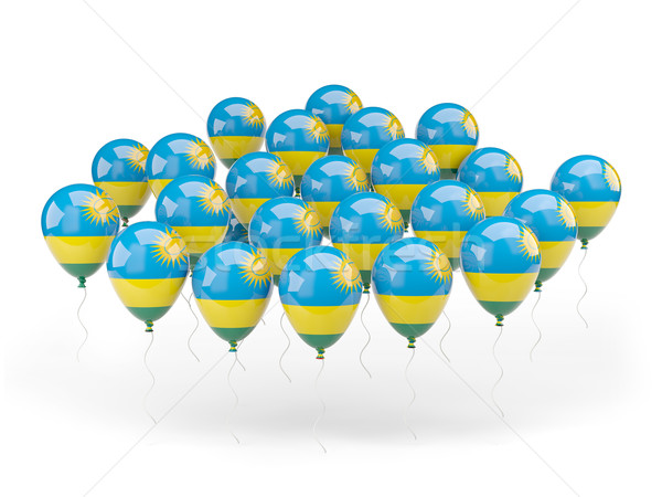 Balloons with flag of rwanda Stock photo © MikhailMishchenko