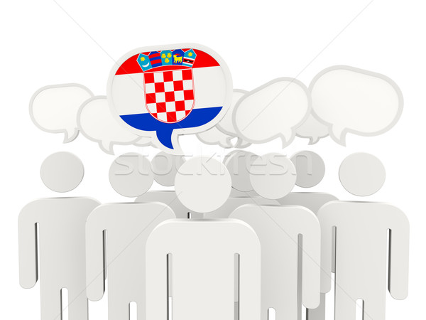 People with flag of croatia Stock photo © MikhailMishchenko