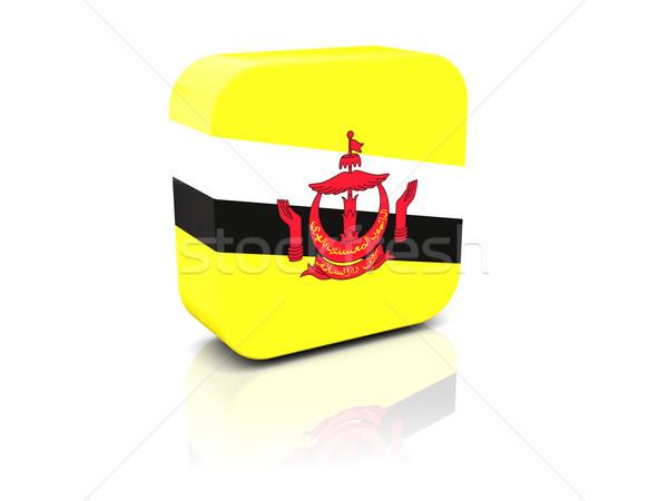 квадратный икона флаг Бруней отражение белый Сток-фото © MikhailMishchenko
