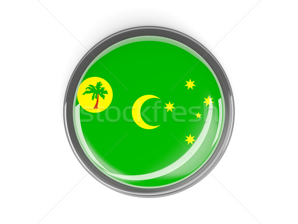 Round button with flag of cocos islands Stock photo © MikhailMishchenko