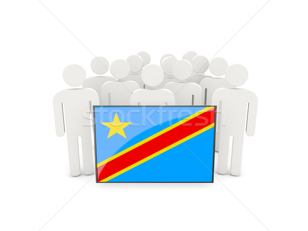 People with flag of democratic republic of the congo Stock photo © MikhailMishchenko