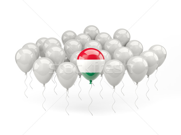 Air balloons with flag of hungary Stock photo © MikhailMishchenko