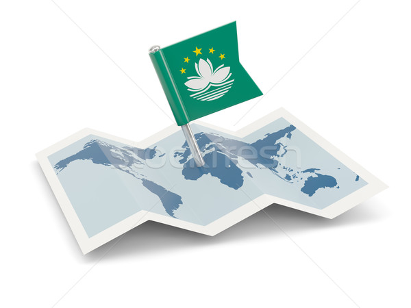 Map with flag of macao Stock photo © MikhailMishchenko
