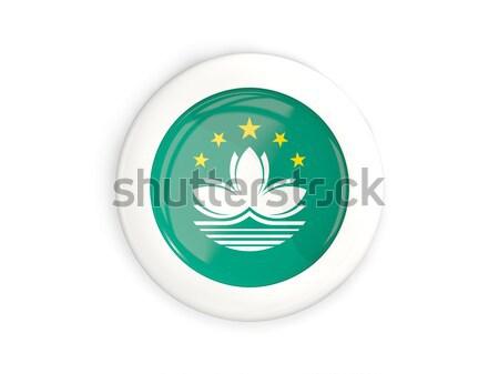 Round sticker with flag of macao Stock photo © MikhailMishchenko