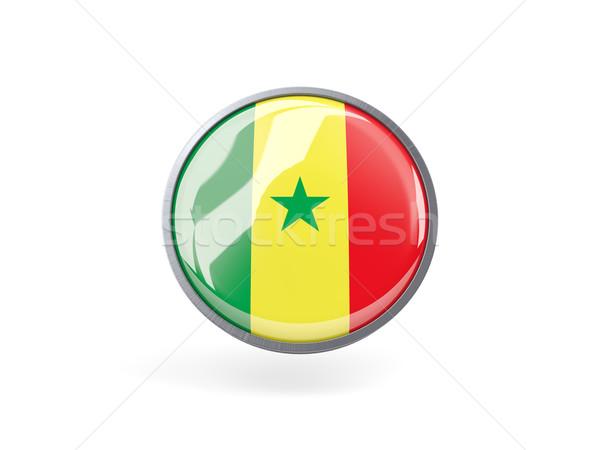 Icona bandiera Senegal metal frame viaggio Foto d'archivio © MikhailMishchenko