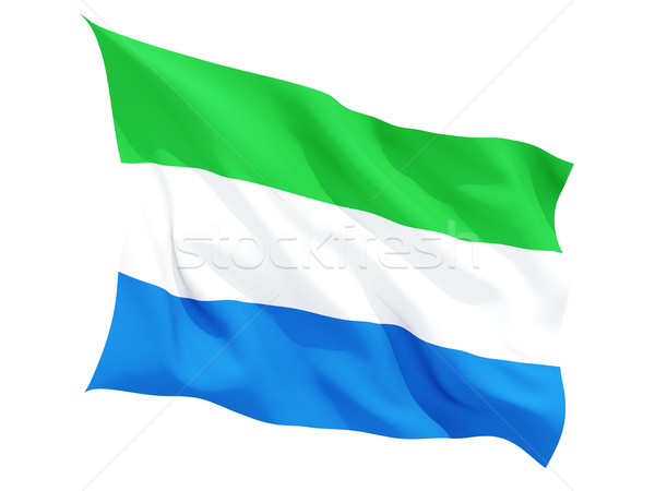 Waving flag of sierra leone Stock photo © MikhailMishchenko