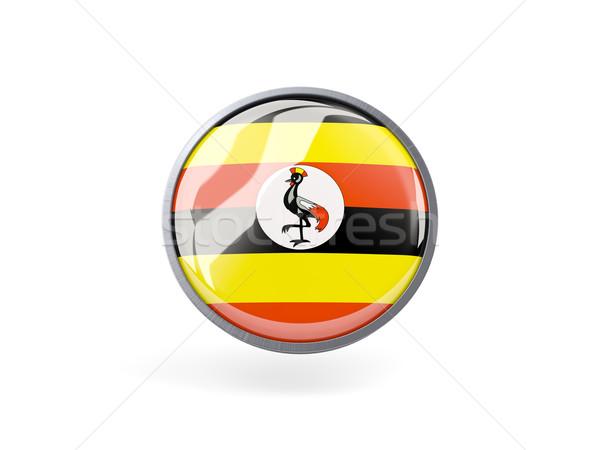 Icona bandiera Uganda metal frame viaggio Foto d'archivio © MikhailMishchenko