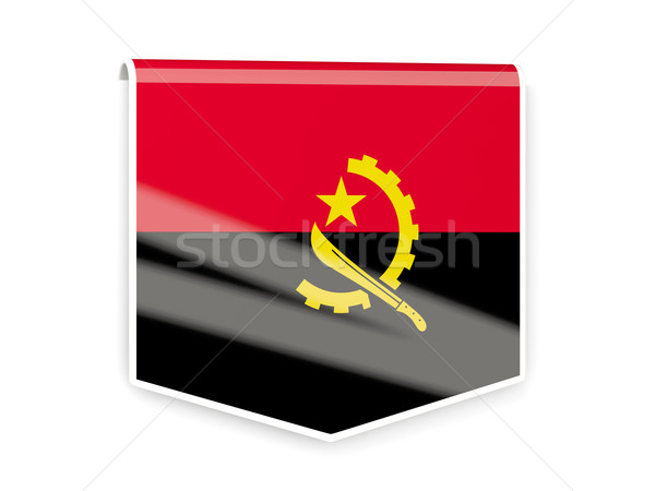 Flag label of angola Stock photo © MikhailMishchenko