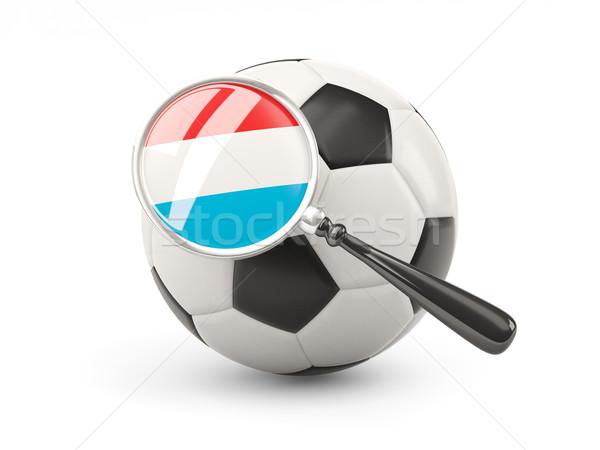 Voetbal vlag Luxemburg geïsoleerd witte Stockfoto © MikhailMishchenko