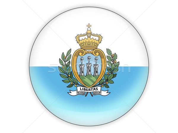 икона флаг Сан-Марино изолированный белый путешествия Сток-фото © MikhailMishchenko