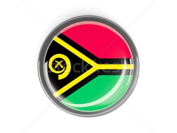 Botão bandeira Vanuatu metal quadro viajar Foto stock © MikhailMishchenko