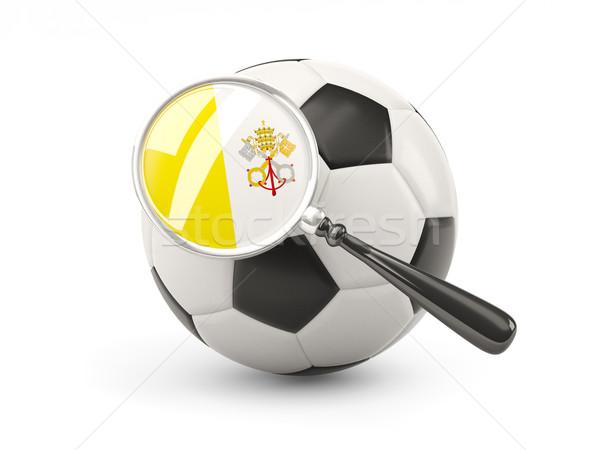 Piłka nożna banderą Watykan odizolowany biały Zdjęcia stock © MikhailMishchenko