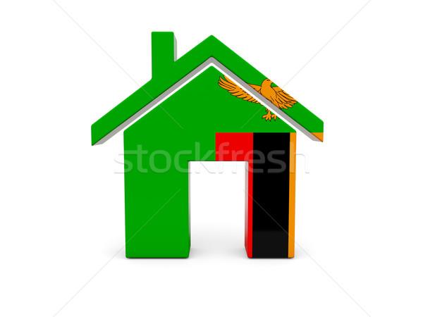 Ev bayrak Zambiya yalıtılmış beyaz ülke Stok fotoğraf © MikhailMishchenko