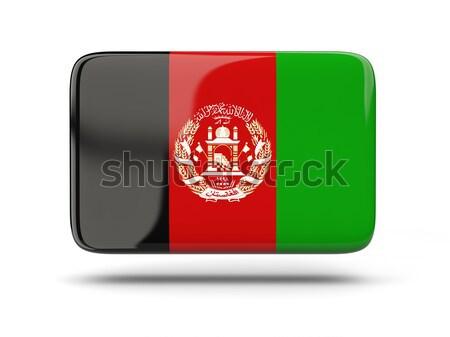 ícone bandeira Afeganistão assinar branco Foto stock © MikhailMishchenko