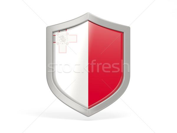 Stockfoto: Schild · icon · vlag · Malta · geïsoleerd · witte