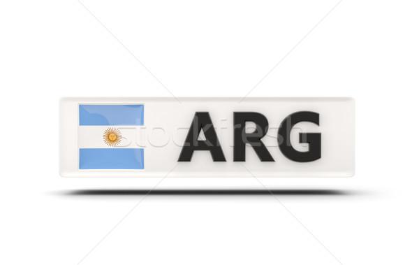 Carré icône pavillon Argentine iso code Photo stock © MikhailMishchenko