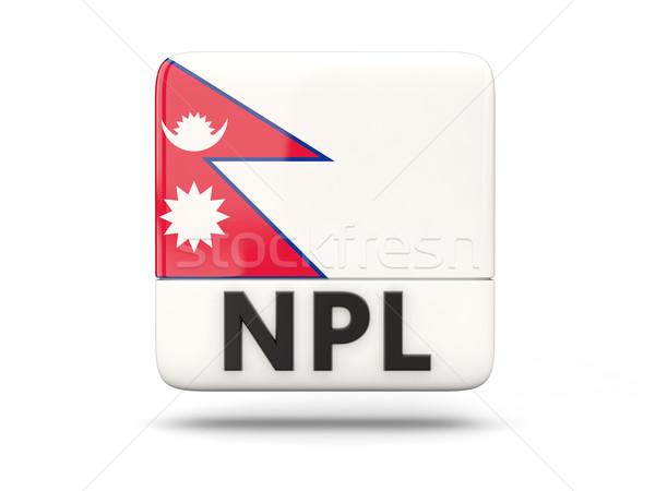 Kare ikon bayrak Nepal iso kod Stok fotoğraf © MikhailMishchenko