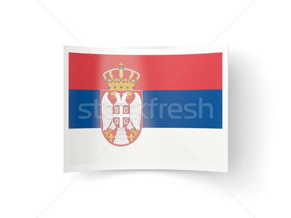 Icono bandera Serbia aislado blanco país Foto stock © MikhailMishchenko