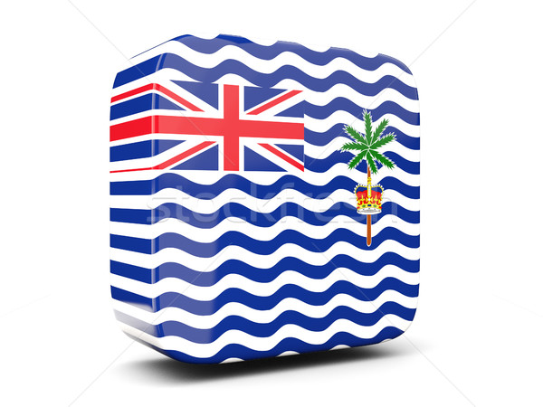 Square icon with flag of british indian ocean territory square.  Stock photo © MikhailMishchenko